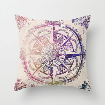 Voyager II Throw Pillow by Jenndalyn
