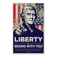 Jefferson Liberty Begins With You Print from Zazzle.com