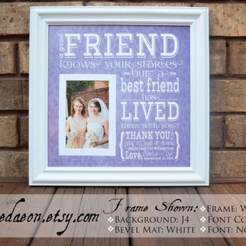 Maid of Honor Gift, Maid of Honor, Bridesmaid Gift, Sister gift, Best Friend, Girlfriends, Bridesmaid Wedding Gift, Wedding Gift, 15x15