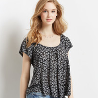 Ditsy Floral Boxy Top