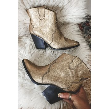 CHINESE LAUNDRY Bonnie Metal Gold Booties