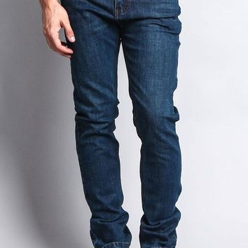 Premium Denim Skinny Fit Jeans (Midnight Blue)
