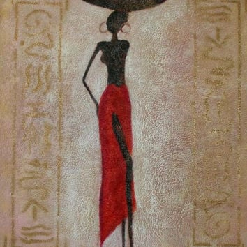 African Beauty I Oil Painting