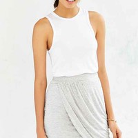 Silence + Noise Knit Wrap-Front Mini Skirt