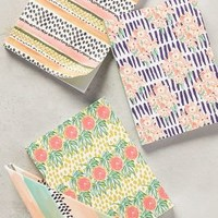Kendra Dandy Tropicalia Notebook Set in Peach Size: Set Of 3 House & Home