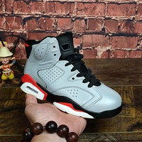 Air Jordan 6 Retro Reflective Infrared Child Sneaker Toddler Kid Shoes - Best Deal Online