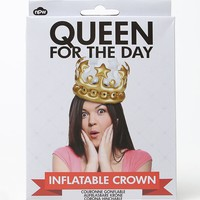 NATURAL PRODUCTS Queen For The Day Inflatable Crown - Womens Scarves - Gold - One