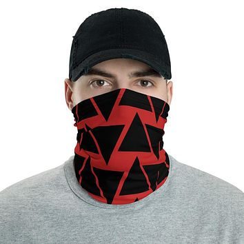 Red And Black Face Mask