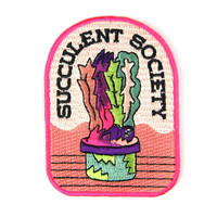 Succulent Society Iron On Patch