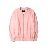 Free Shipping-VAPORWAVE BABY PINK COLOR MA-1 JACKET sold by NEW ARRIVAL