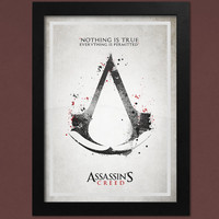 Assassin's Creed Poster, Nothing Is True Everything Is Permitted Print, Video Game Poster