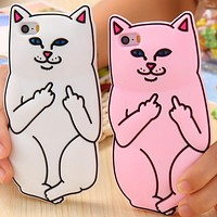 FU Cat Phone Case