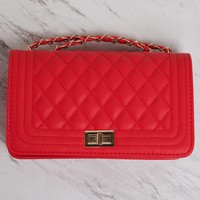 Candance Chained Purse - Red