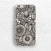 Mandala Henna matte transparent phone case for iPhone 6/6s, Sony z3 z4, HTC one M9, LG G4, Samsung S6, Moto X 2nd gen soft clear case -P54