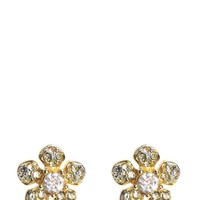 Gold Pave Flower Stud Earring by Juicy Couture, O/S