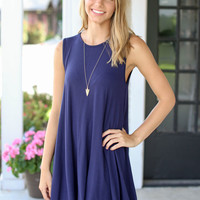 Count on Me Dress - Navy