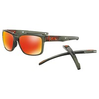 NEW OAKLEY CROSSRANGE SUNGLASSES | OLIVE INK / PRIZM RUBY | 9361-1157