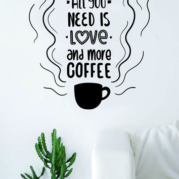 All You Need Love Coffee Quote Wall Decal Sticker Bedroom Living Room Art Vinyl Beautiful Kitchen Cute The Beatles Music