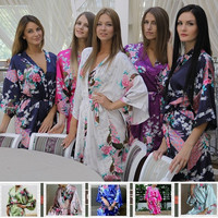 Satin Robes for Brides Weddign Silk Pijama Casual Bathrobe Animal Rayon Long Sexy Nightgown Women Sleepwear Kimono XXXL 950 [7652256326]