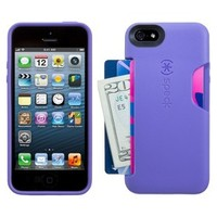 Speck Cell Phone Case for iPhone 5/5S with Card Slot - Purple (SPK-A0719)