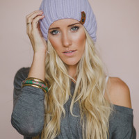 Leather Accent Beanies