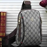 Gucci Women Men Fashion Leather Crossbody Bag