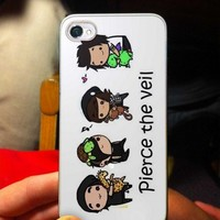 Cute Pierce The Veil Cartoon - OC - iPhone 5 case Black/White Case