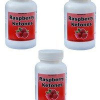 Raspberry Ketones, 247mg, Highest Quality, Natural Weight Loss and Appetite Suppression, 120 capsules, 247mg per pill PACK OF THREE