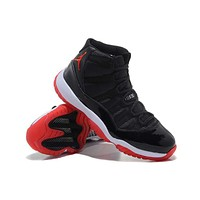AIR JORDAN 11 black/red Basketball Shoes 36-47