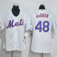 Women's New York Mets #48 Jacob deGrom Majestic Cool Base Jersey
