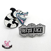 Beetlejuice Enamel Pin Set