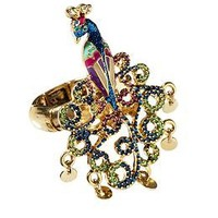 Betsey Johnson Peacock Stretch Ring | Piperlime