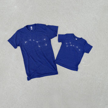 PRE-SALE: Big Dipper Little Dipper Tshirt set, father and child, dad and baby, gift for men, astronomy t shirt set, Father's Day