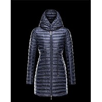 Moncler BARBEL Ultralight Round Collar Blue Jackets Nylon/Polyamide Womens 41411433AK