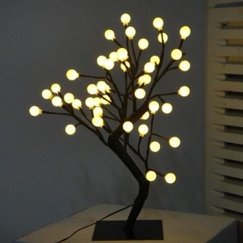 Creative Motion Desktop Ball Tree Table Lamp with 48 Piece LED Lights