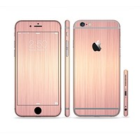 The Rose Gold Brushed Surface Sectioned Skin Series for the Apple iPhone 6 Plus