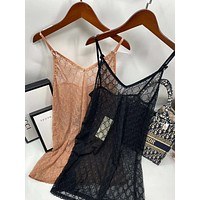 GUCCI GG tulle lingerie dress