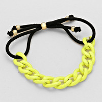 Chain Cord Adjust Bracelet Yellow