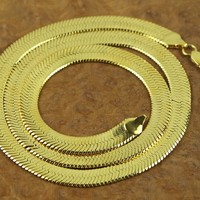 Indie Designs A$AP ROCKY Favourite 18K Gold-plated Flat Herringbone Chain Necklace