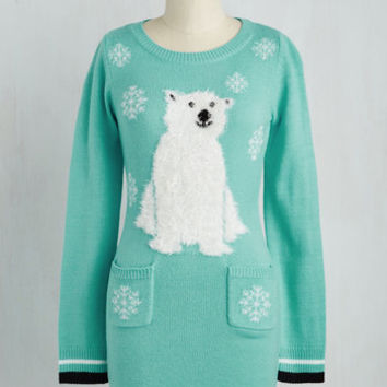 Critters Short Length Long Sleeve Sweater Dress Truth or Bear? Dress