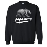 Sale - Papa Bear - Mens Pullover Sweater Sweatshirt Jumper Gift For Dad Husband Father Awesome Dad Pun Fathers Day Gift New #1 Dad Guys - S