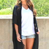 Take It Easy Kimono - Black