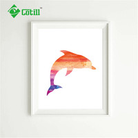 Cotill Mondern Dolphin Canvas Painting Pictures Wall Art Pictures On The Wall NO Frame Home Decor Pictures Posters And Prints
