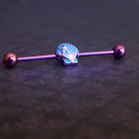 Ariel's Shell Industrial Barbell (14G)