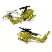Army Green Uh-1 Huey Helicopter Cufflinks