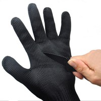 1Pair Anti-cut Anti-slip Outdoor Hunting Fishing Gloves Cut Resistant Protective Knife Anti-cutting Hand Protection Mesh Gloves