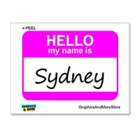 Sydney Hello My Name Is Sticker