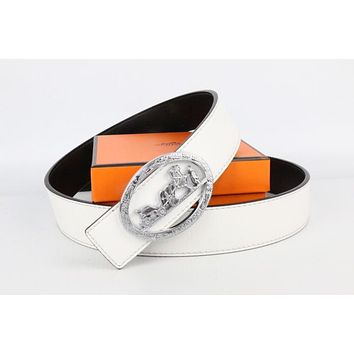 Hermes belt men's and women's casual casual style H letter fashion belt211