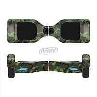 The Traditional Green Camouflage Full-Body Skin Set for the Smart Drifting SuperCharged iiRov HoverBoard