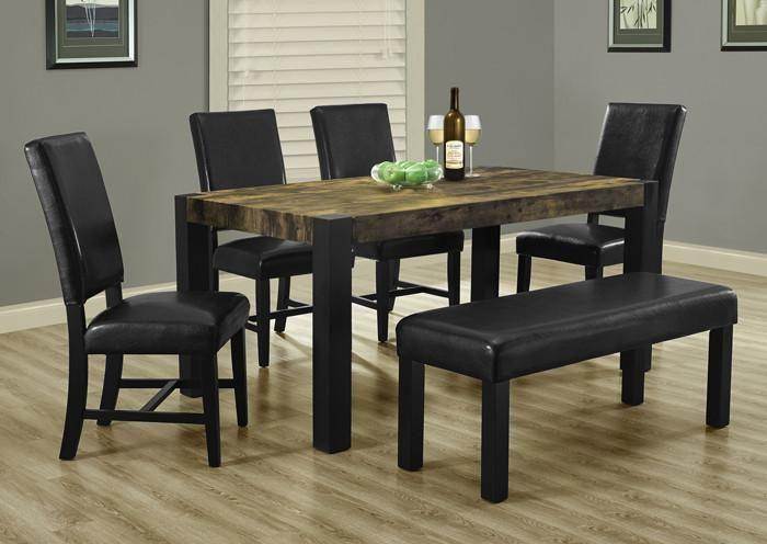 """Image of Distressed Reclaimed-Look / Black 38""""X 64"""" Dining Table"""